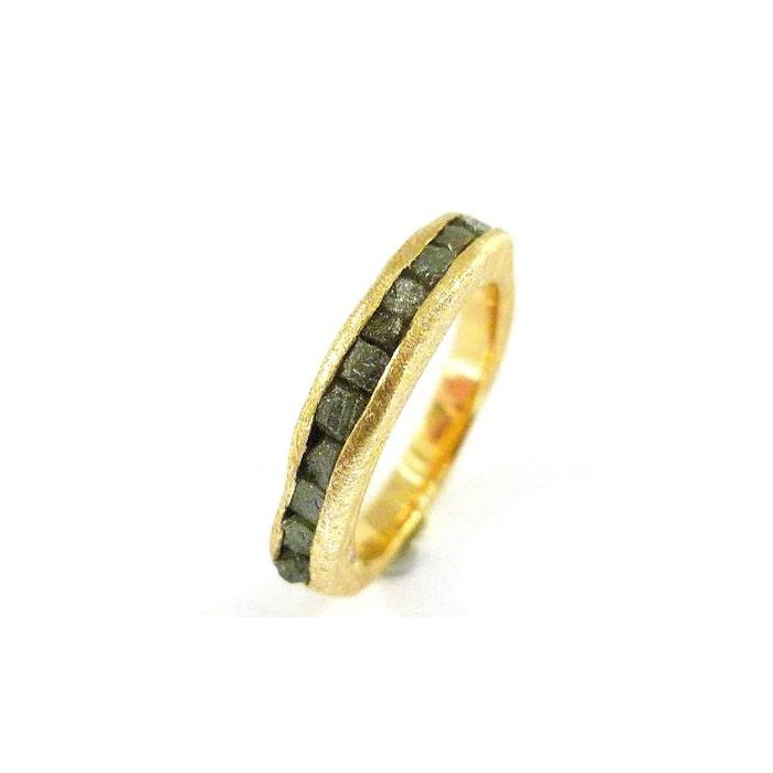 Anillo oro amarillo y diamantes