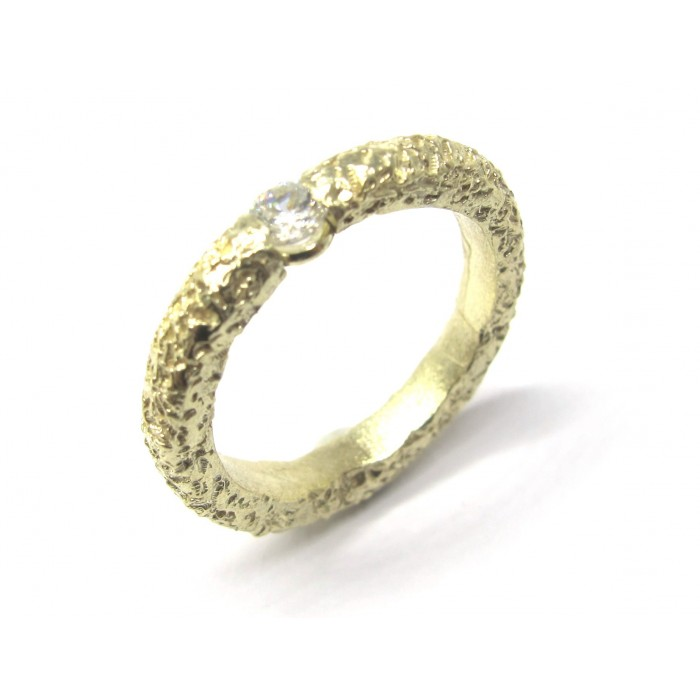 Anillo oro amarillo y brillante