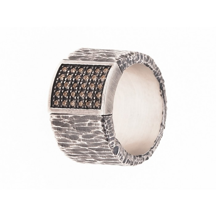 Anillo plata y diamantes brown
