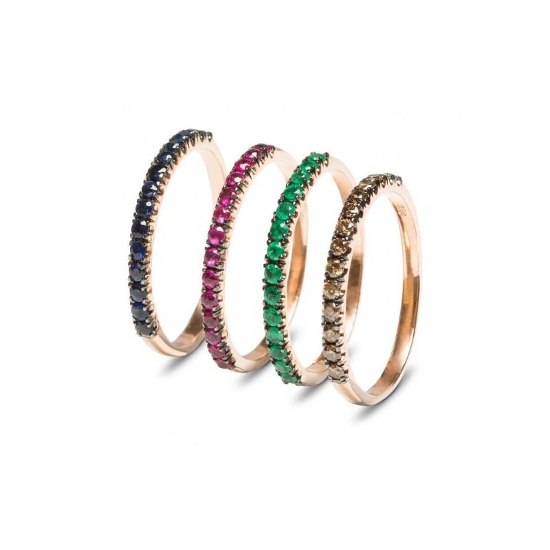 0e43d7435f4d Anillos de oro rosa y piedras preciosas
