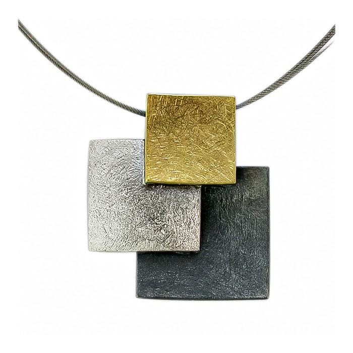 Colgante plata y oro