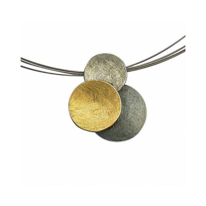 Colgante plata y oro pequeño