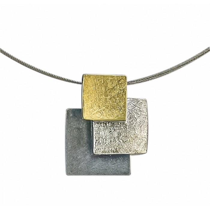 Colgante plata y oro pequeños