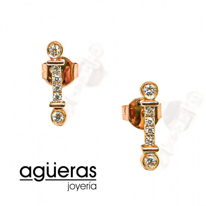 Pendientes TIFFANY oro y diamantes