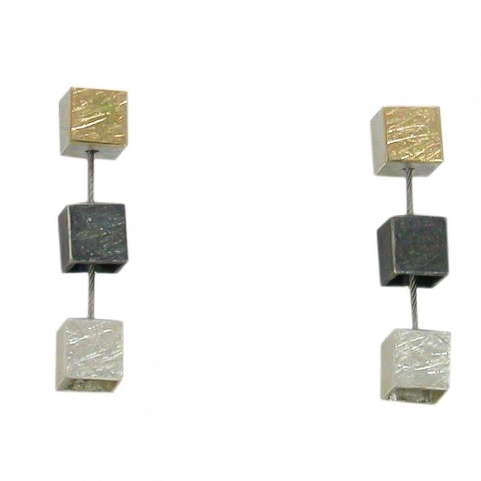 Pendientes KUBIX plata y oro