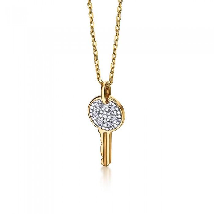 Colgante llave oro amarillo y diamantes