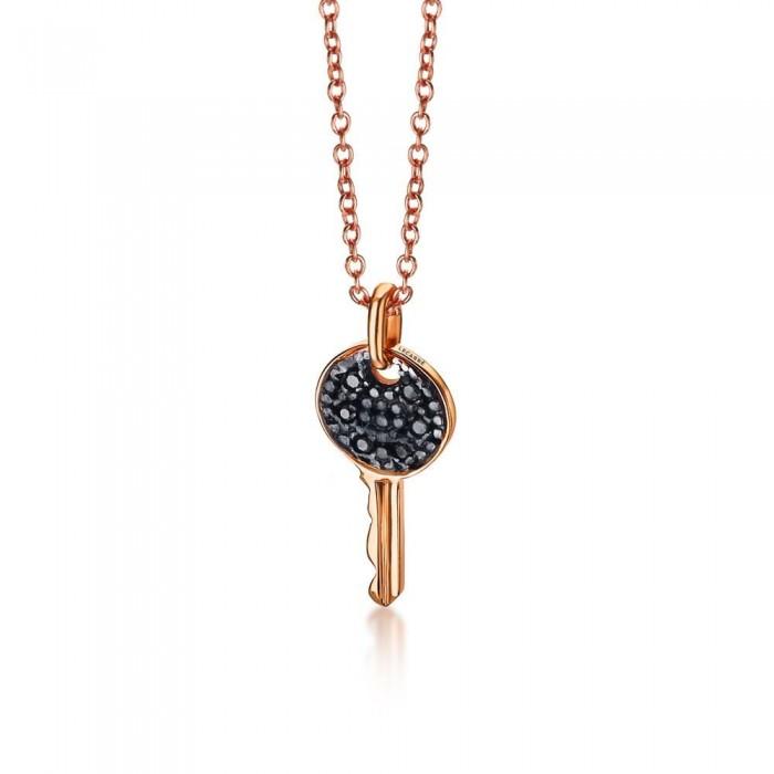 Colgante llave oro rosa y diamantes black