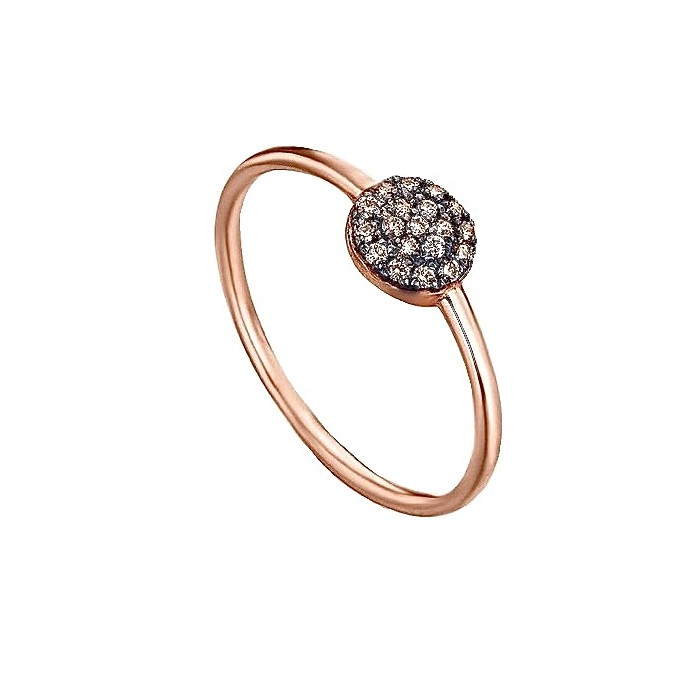 Anillo oro rosa y diamantes brown