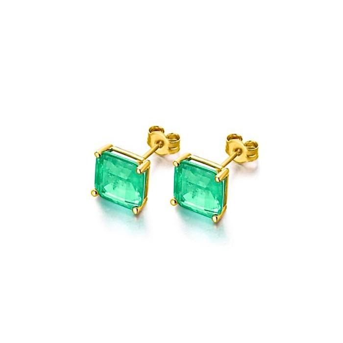 Pendientes GREEN esmeralda y oro