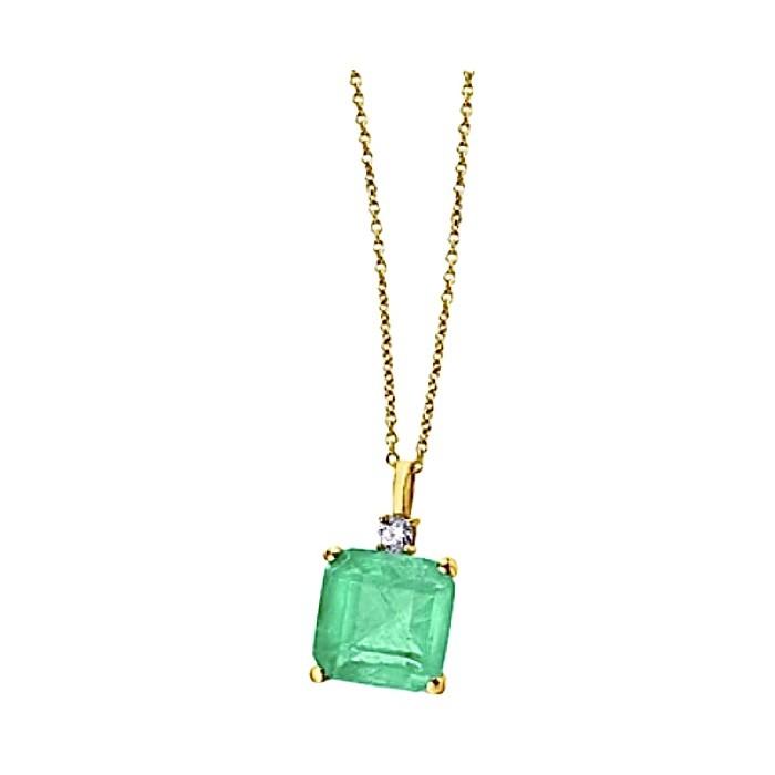 Colgante GREEN esmeralda y topacio