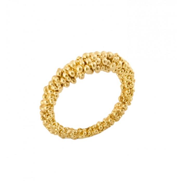 Anillo oro amarillo bolitas