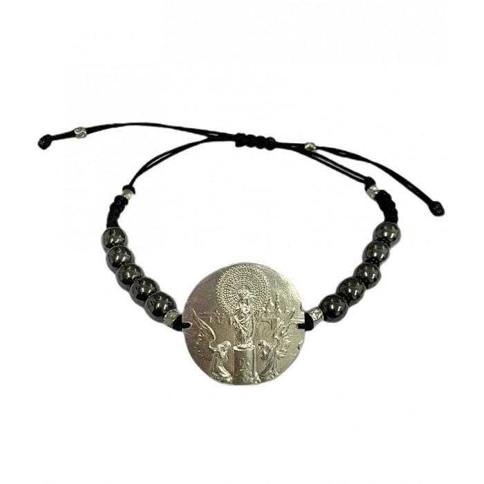Pulsera medalla Virgen del Pilar plata